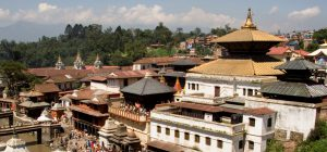 Pashupati temple, one of the world heritage sites inside Kathmandu valley