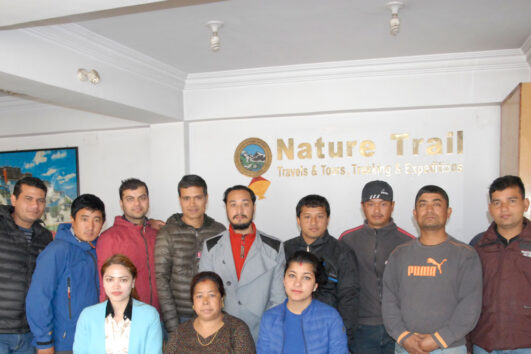Nature Trail Office team in Nepal