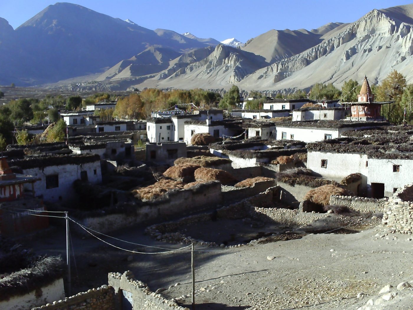 Tsarang village mustang